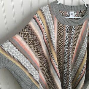 CAbi Sweaters - Cabi Fair Isle Long Sleeve Poncho